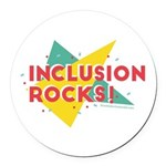 Inclusion Rocks Round Car Magnet