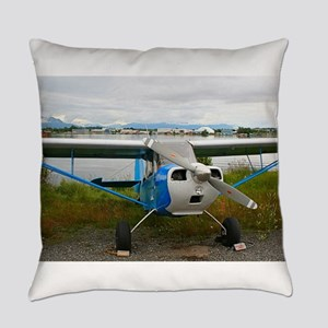 High wing aircraft, blue & whi Everyday Pillow