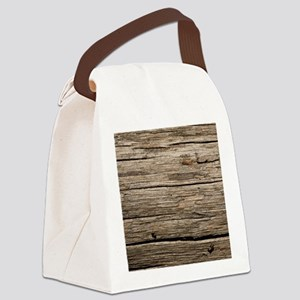 WEATHERED WOOD Canvas Lunch Bag