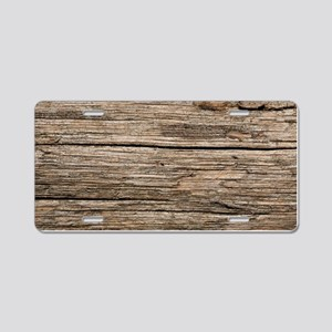 WEATHERED WOOD Aluminum License Plate