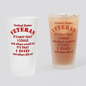 US Vet I Did Because Drinking Glass