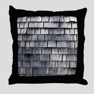 WEATHERED SHINGLE Throw Pillow