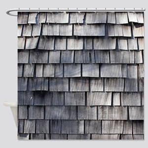 WEATHERED SHINGLE Shower Curtain