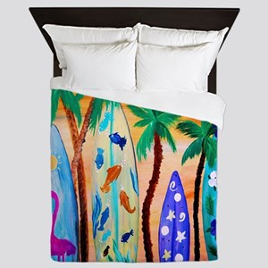 Surfboards Bedding Queen Duvet