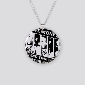 Save money, Spend Time with Necklace Circle Charm