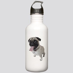 Pug Close Up Photo Stainless Water Bottle 1.0L
