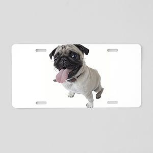 Pug Close Up Photo Aluminum License Plate