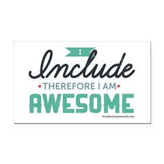 I Include Therefore Rectangle Car Magnet