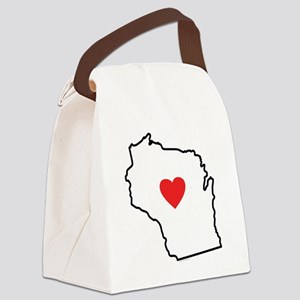 I Love West Virginia Canvas Lunch Bag