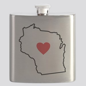 I Love West Virginia Flask