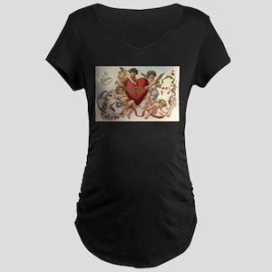 Vintage Valentine's Day Maternity T-Shirt