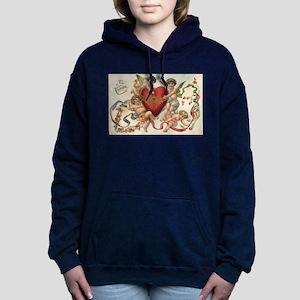 Vintage Valentine's Day Women's Hooded Sweatshirt
