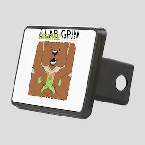 Grime Lab Bear Rectangular Hitch Cover