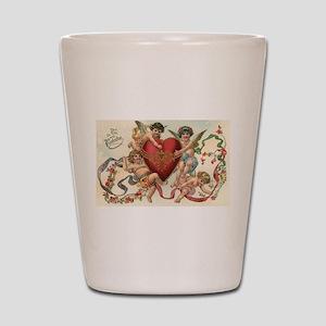 Vintage Valentine's Day Shot Glass