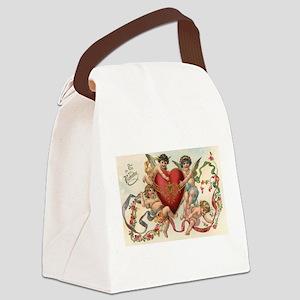 Vintage Valentine's Day Canvas Lunch Bag