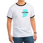 True Blue Indiana LIBERAL Men's Ringer T-shirt