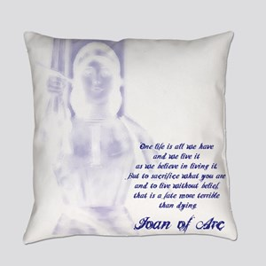 Joan of Arc - One Life Everyday Pillow