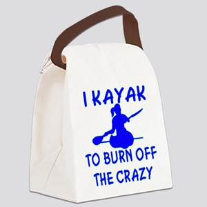 I Kayak To Off Crazy Canvas Lunch Bag