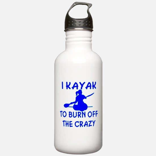 I Kayak To Off Crazy Water Bottle