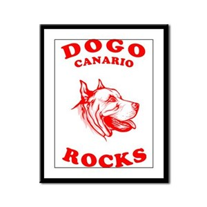 Dogo Canario Framed Panel Print