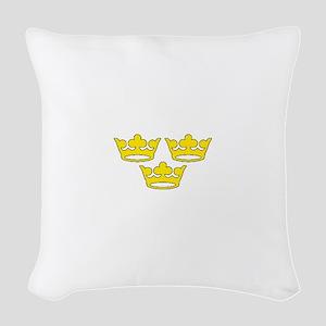 tre-kronor Woven Throw Pillow