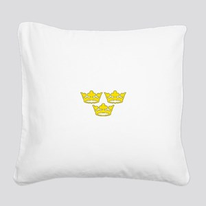 tre-kronor Square Canvas Pillow