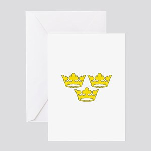 tre-kronor Greeting Cards
