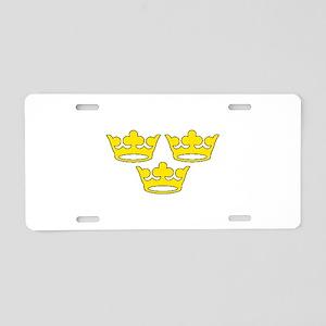 tre-kronor Aluminum License Plate