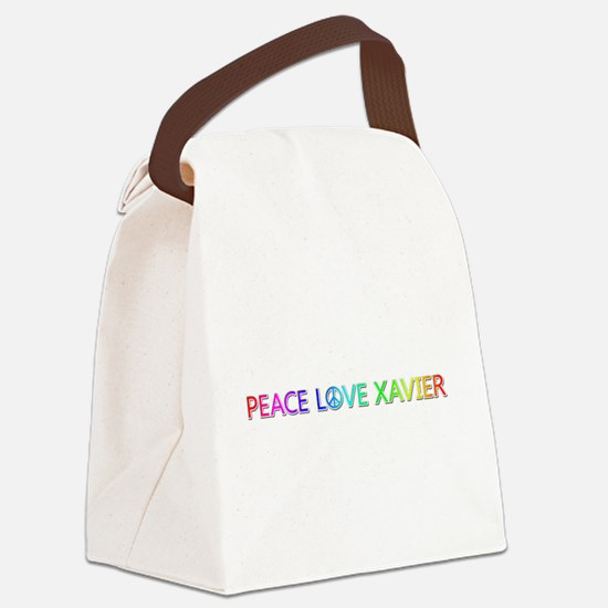 Peace Love Xavier Canvas Lunch Bag