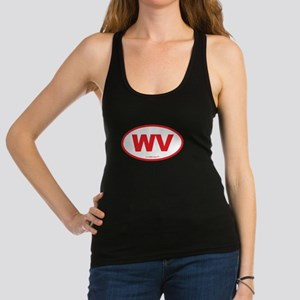 West Virginia WV Euro Oval Racerback Tank Top