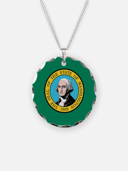 Washington State Flag Necklace