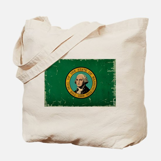 Washington State Flag VINTAGE Tote Bag
