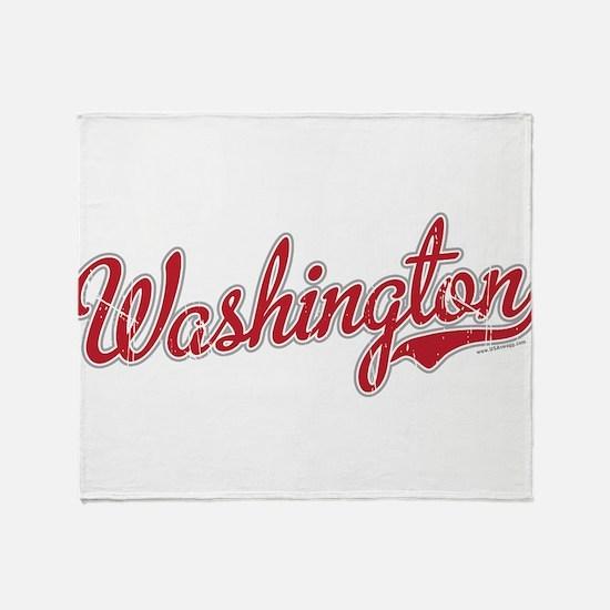 Washington State Script Font Throw Blanket