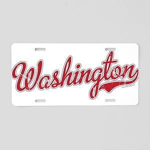 Washington State Script Font Aluminum License Plat