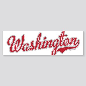 Washington State Script Font Bumper Sticker