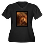 Fallen Angel Women's Plus Size V-Neck Dark T-Shirt