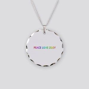 Peace Love Zoey Necklace Circle Charm