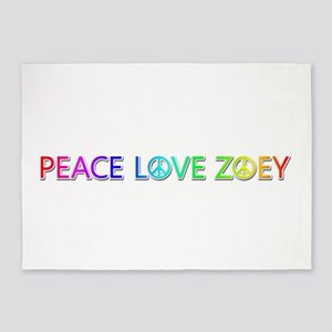 Peace Love Zoey 5'x7' Area Rug