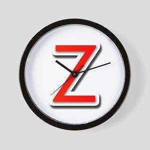 Z Wall Clock