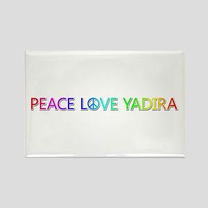 Peace Love Yadira Rectangle Magnet