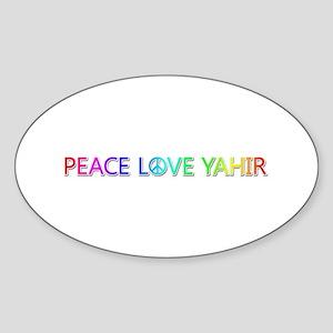 Peace Love Yahir Oval Sticker
