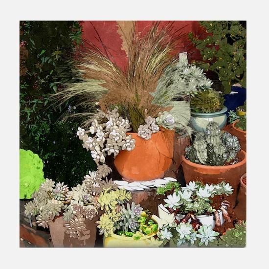 Succulent Plants Tile Coaster