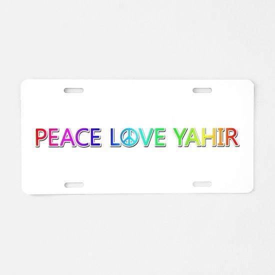 Peace Love Yahir Aluminum License Plate