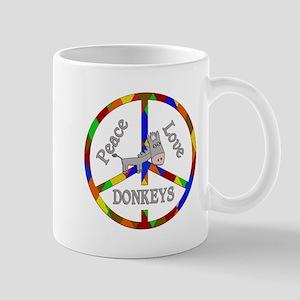 Peace Love Donkeys Mug