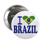 "I love Brazil 2.25"" Button (100 pack)"