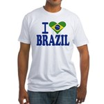 I love Brazil Fitted T-Shirt