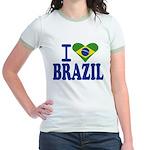 I love Brazil Jr. Ringer T-shirt