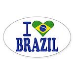 I love Brazil Oval Sticker