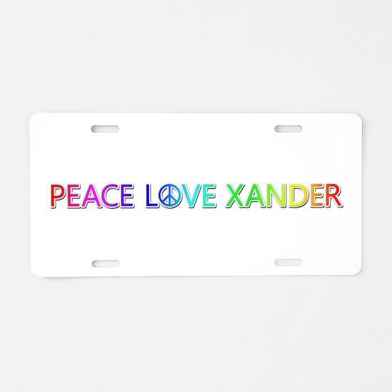 Peace Love Xander Aluminum License Plate