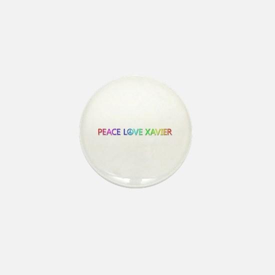 Peace Love Xavier Mini Button